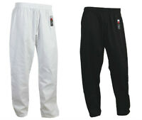 Giko Martial Arts, Karate Trousers - Pants - Black White Training Unisex Gi Suit
