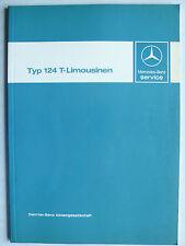 MERCEDES Tipo 124 T-berline introduzione carattere servizio clienti, 1.1986, 80 pagine
