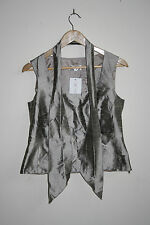 Kirsten Krog Design Woman's Fashion Designer Corset Top Silver Pure Silk Size 10