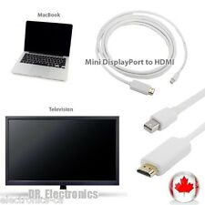6FT Mini Display Port Male to HDMI Adapter Cable MacBook Pro Air Adapter MD1