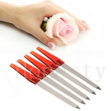 5x Metal Double Sided Nail Files Strong Edge Manicure Pedicure Grooming Remover