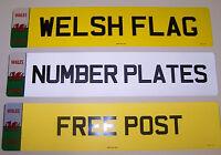 NUMBER PLATES WELSH BADGE 1 FRONT OR REAR  REGISTRATION PLATES FREE POST