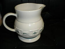 """LONGABERGER WOVEN TRADITIONS HERITAGE GREEN LARGE PITCHER 7.5"""" TALL, EUC"""