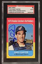 Gary Carter (d.2012) Expos Autographed 2002 Topps Legends 1975 Rookie Card SGC