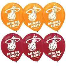 Miami Heat NBA Pro Basketball Sports Banquet Party Decoration Latex Balloons