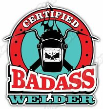 "Bad Ass Welder Weld Welding Helmet Funny Car Bumper Vinyl Sticker Decal 4""X5"""