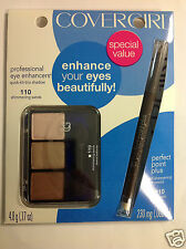 Covergirl Eye Enhancers Shadow #110 Shimmering Sand +  Perfect Pencil Espresso