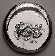 (Information Only) Pisces USVI Anahem Metal Co. old pour 1 oz .999 silver round