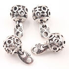 10/20Pcs Tibetan Silver Hollow Out Charms Jewelry Bead Pendants Findings 20*10mm