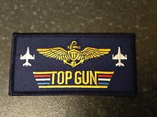 TOPGUN embroidered iron or sew on motif patch movie military costume badge