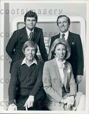 1981 J Barbour S Stephenson S Purcell F Willard TV Show Real People Press Photo
