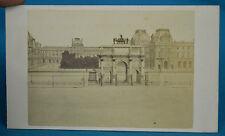 1870s French CDV Louvre & Arc De Triomphe Du Carrousel Carte De Visite Paris NR