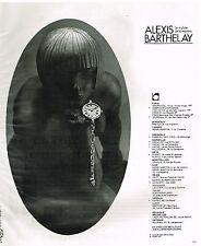 Publicité Advertising 1976 Les Montres Alexis Barthelay