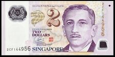 Singapore 2 Dollars ND(2009) UNC**New - Polymer (1 Square)