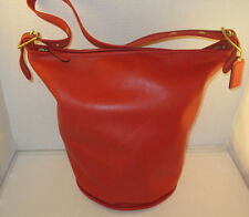 Coach Vintage Large Red Leather Classic Duffle Bag/Tote - No. 17998 - EUC