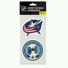 COLUMBUS BLUE JACKETS 2 PIECE PERFECT CUT DECAL SHEET PERFECT FOR WINDOWS