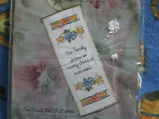 Sandi Phipps Our Family Bell Pull Counted Cross Stitch Kit