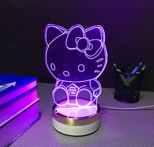 Hello kitty 3D Night Lights LED Lamp for Children home customized birthday gift
