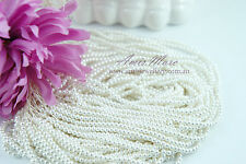 20 Strands(3600 beads) 3mm Pure White Imitation Acrylic Loose Round Pearl Beads