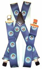 """2"""" Blue Department of the Navy Supsenders. Made in USA : Elastic, 48"""",SF"""