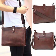 Vintage Men's Leather Business Briefcase Messenger Shoulder Sling Bag Satchel