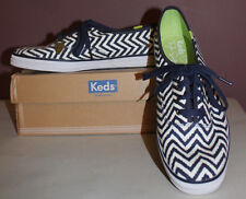 New Unique Woman's Shoes Keds Zig Zag Navy Blue Taylor Swift Size 11