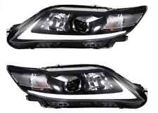 For Toyota Camry 2010-2011 LED Headlight 4 Door Sedan Assembly Black Projector