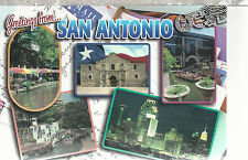 Greetings From San Antonio    San Antonio  TX    Unused Chrome Postcard 12114