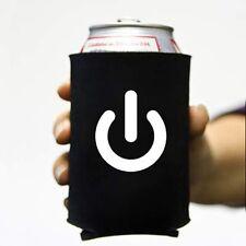 Power On Koozie Can Computer Koolie Cooler Insulator Geek Nerd Hacker Beer Soda