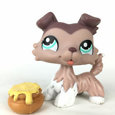 Authentic Littlest Pet Shop 1330 Colley Dog / Chien Collie LPS Hasbro Original.