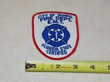 Vintage City of Tampa Fire Dept. Department E.M.T. Florida State Certified Patch