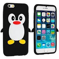 Black Silicone Penguin Phone Case / Cover for Apple iPhone 6 Plus / 6S Plus