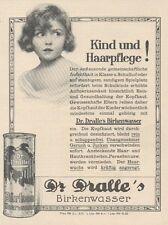 Y6561 Dr. DRALLE'S Haarwasser -  Pubblicità d'epoca - 1927 Old advertising