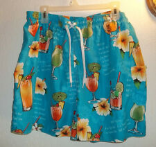 MEN'S  BIG DOG  SHORTS SIZE 18/20  HAWAIIN PRINT  WITH DRINK RECEIPE S