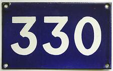 Número de casa vieja utiliza australiano 330 Puertas Puerta Esmalte Letrero De Metal En Azul Francia