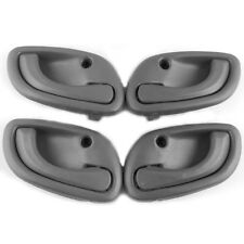 Fit For 99-01 Suzuki Baleno Inside Door Handle Left Right Gray 4PCS For Car SUV