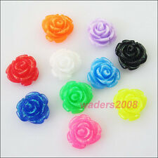 20 New Charms Mixed Resin Flowers Cameos fit Cabochons Settings Flatback 13mm
