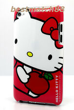 for iPod touch 4th 4 th 4gen itouch hello kitty back case hot pink red white