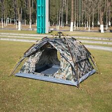 Outdoor Camping Tents 3-4 Person Camo Automatic Dome Cabin Double Layer Shelter