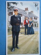 POSTCARD THE ROYAL MARINES - MAJOR IN NO 1 DRESS & CAPTAIN IN MESS DRESS