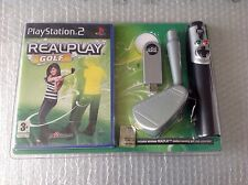 Vintage Real Play Golf + Mazza Wireless Ps2 Playstation 2#Sealed Bundle