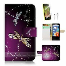 Microsoft Nokia Lumia 640 Flip Wallet Case Cover! P1844 Dragonfly