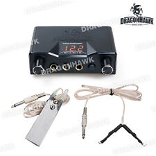 Tattoo LCD Digital Power Supply Foot Switch Clip Cord WP069+WE002+WY002