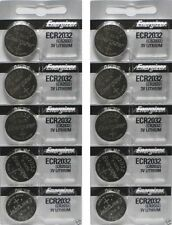 10 FRESH Genuine Energizer CR2032 ECR2032 3V Coin Button Batteries