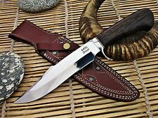 Custom  440c Steel Bowie Hunting Knife with Wenge Wood Handle - ExoticEdge-USA