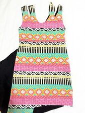 cgq - Aztec Assymetrical Dress PINK ( Sz Small- Medium)