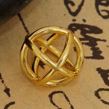 Anhänger, Charm 3D Kreuz geomtetrisch 12x12mm gold 1x