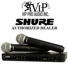 Shure BLX288/PG58 Dual Handheld Wireless Microphone Mic System,Authorized Dealer