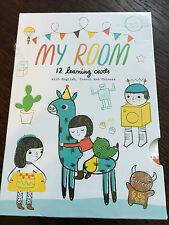 Noodoll 'My Room' 12 Learning Cards with English, French & Chinese