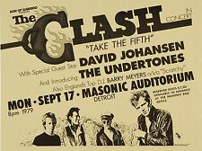 "The Clash Detroit 16"" x 12"" Photo Repro Concert Poster"